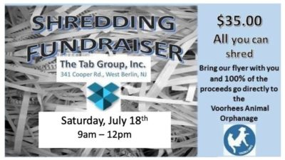 Shredding For The Orphans @ The Tab Group, Inc. | West Berlin | New Jersey | United States
